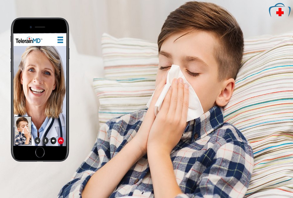 Online pediatrician on video call